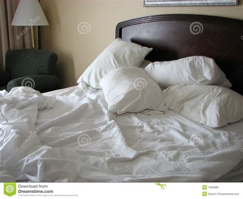 unmade bed unmade bed stock photography image 1965882