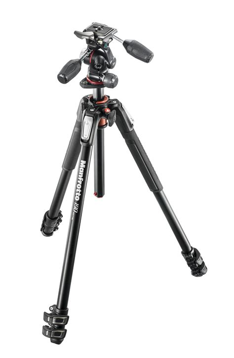 Manfrotto 190xpro4 Aluminium Tripod With Mhxpro 3w 3way Limited manfrotto 190 kit aluminum 3 section tripod and 3 way mk190xpro3 3w ritzcamera
