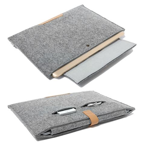 Promo Tas Laptop Sleeve Felt Macbook Pro Air Retina 11 12 new fashion wool felt sleeve bag 11 13 15 inch for macbook air pro retina ultra slim light