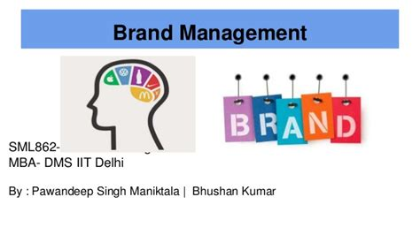 With Mba In Marketing Brand Management by Marketing And Brand Management