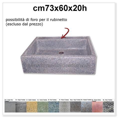 lavandini da giardino prezzi lavello da giardino acquaio in graniglia colorata 341