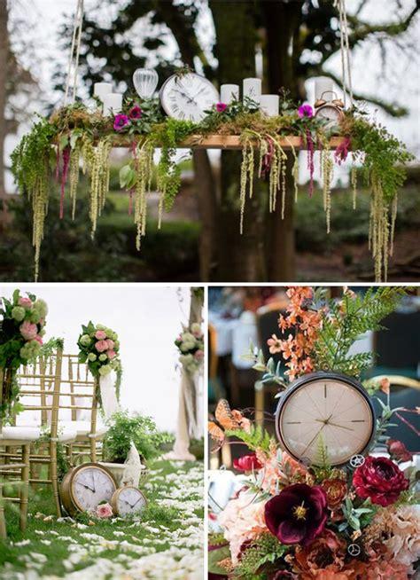 decoracion mesas vintage decoracion de boda con relojes vintage