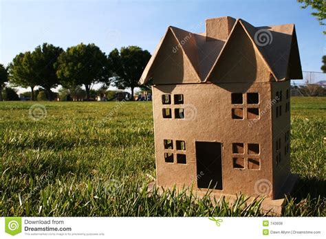 cardboard houses cardboard house royalty free stock photos image 743938