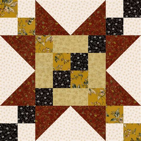 Sawtooth Quilt Block 12 quot frayed sawtooth quilt block pattern