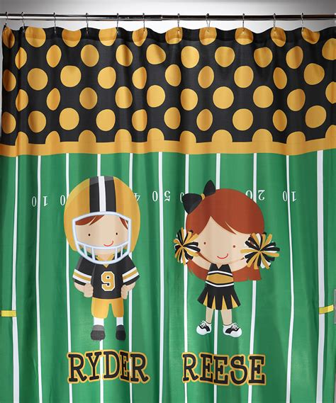 football shower curtains football shower curtain personalized potty training