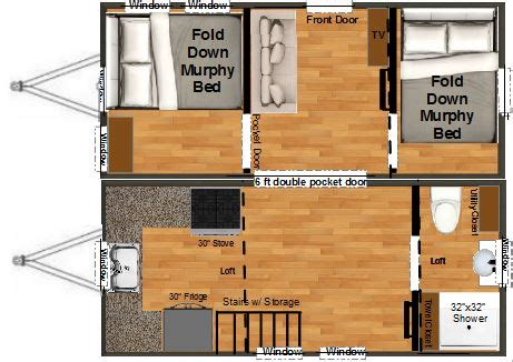 Stationary Tiny House Plans double wide tiny house floor plan