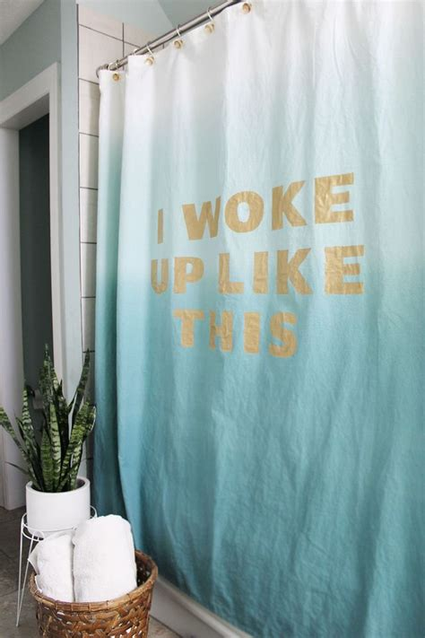 diy painted curtains statement shower curtain diy a beautiful mess