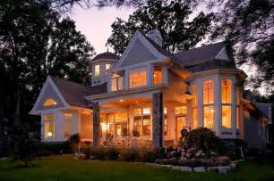 Traditional Cape Cod House Plans Cape Cod Shingle Style Lake Home Traditional Exterior
