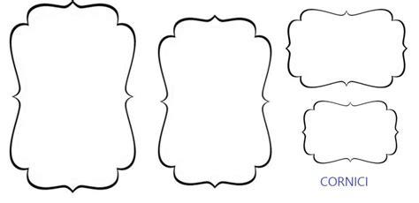 decorazioni per cornici sagome di cornici per decorare biglietti di auguri