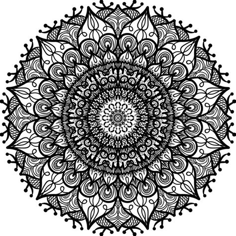 hand drawn mandala in arabic indian islam and ottoman