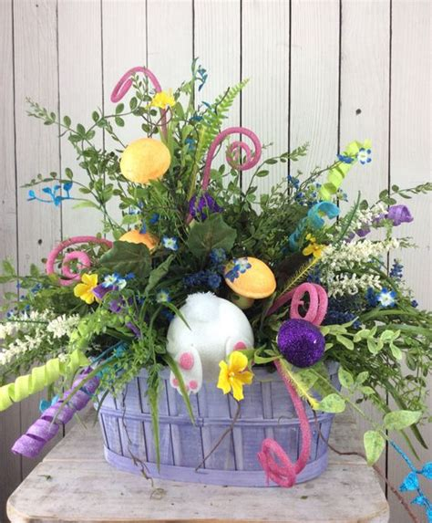 easter centerpiece easter floral arrangement easter by
