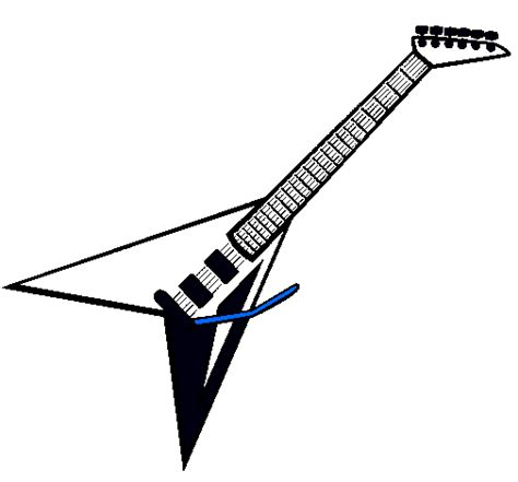 imagenes de guitarras faciles para dibujar dibujo de guitarra el 233 ctrica ii pintado por macho en