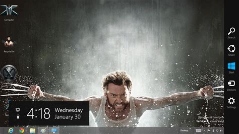 google themes x men x men the wolverine theme for windows 8 ouo themes