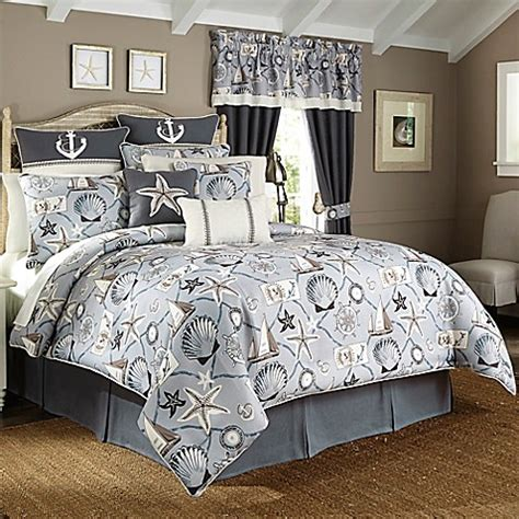 light blue queen comforter set buy croscill 174 yachtsman queen comforter set in light blue