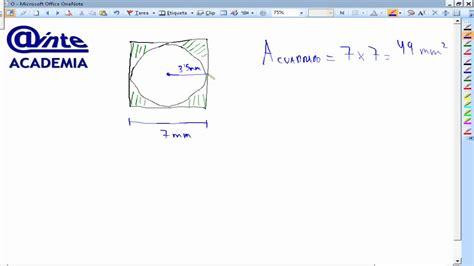 el crculo se ha area de cuadrado inscrito en circulo matematicas 1 186 eso