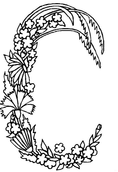 alphabet coloring pages with flowers kids n fun com coloring page alphabet flowers alphabet