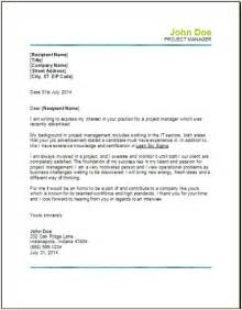 Cover Letter For Project Management by Project Management Resume Occupational Exles Sles