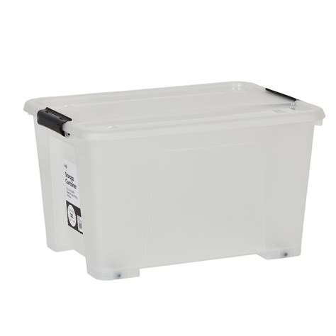 clear plastic storage container keji 32l plastic storage container clear ebay