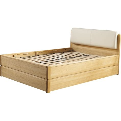 Atlanta Solid Wood Bed With Storage Space Modern Wood Solid Wood Bed With Storage