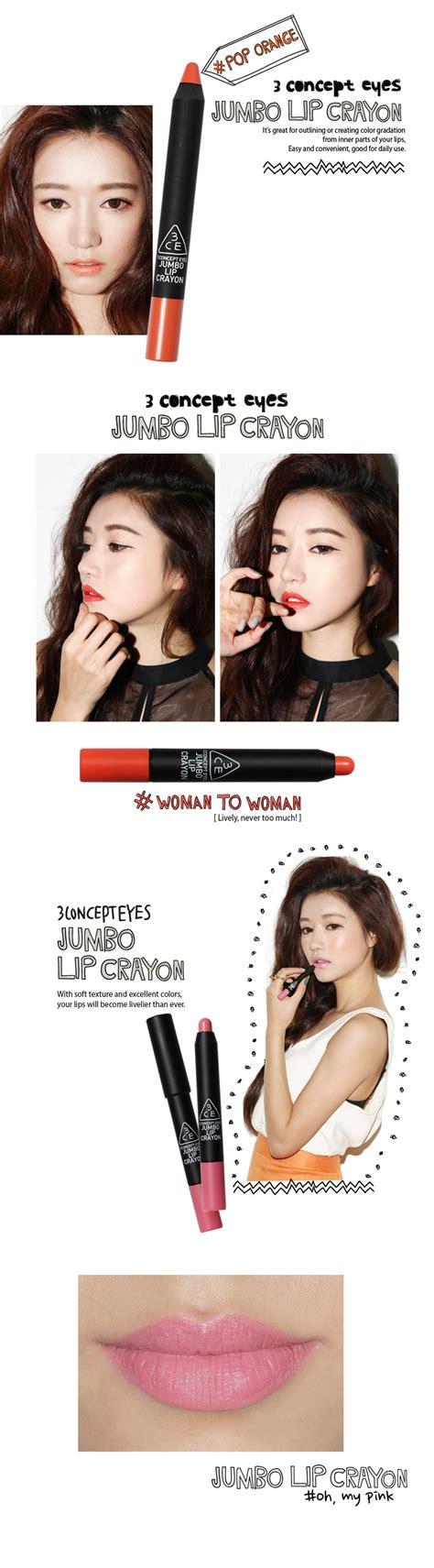 Images Jumbo Lip Crayon Lipstick B028 Soft 3ce 3 concept jumbo lip crayon lunatu cosmetics uk
