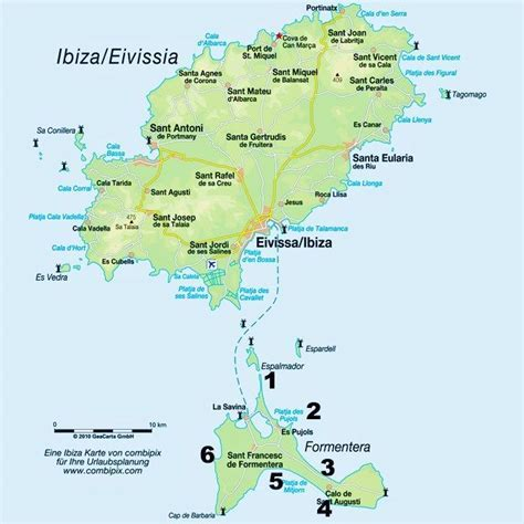 Ibiza and Formentera map   Favorite Places: Formentera