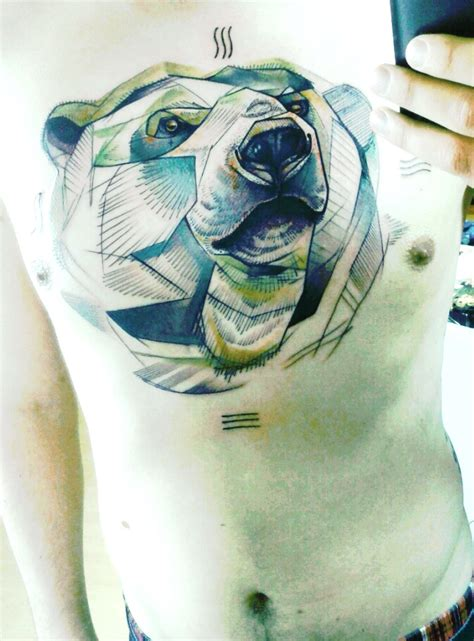 polar bear tattoo designs on triangle tattoos geometric tattoos and