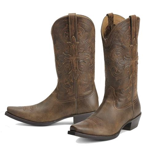 ariat s fearless cowboy boots with cross