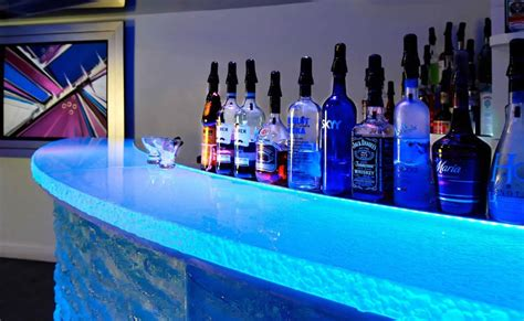 Glass Bar Light Architecture Versatile Countertop With Inner Glow