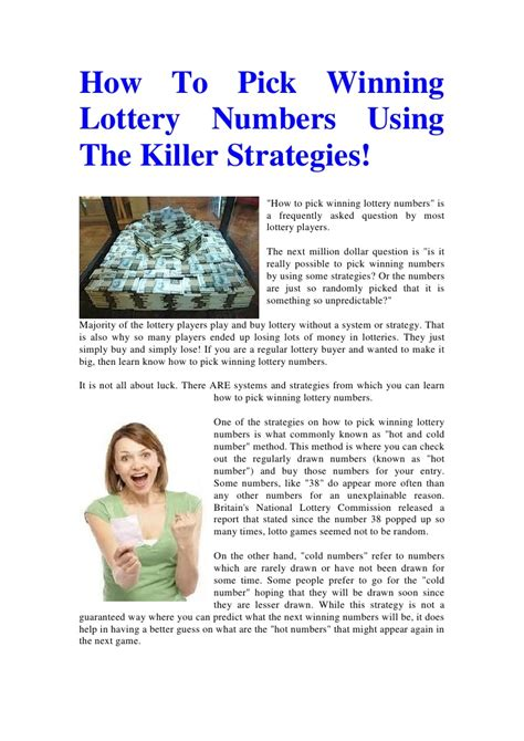 7 Tips On Winning The Lotto by Lottery Tips From Winners Milions Uk