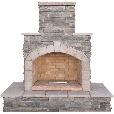 Cal Outdoor Fireplace by Cal 78 In Gray Propane Gas Outdoor