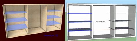 shelf design software sketchup as cabinet design software really sketchlist 3d
