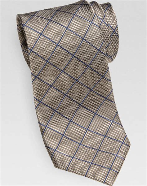 regex pattern length joseph abboud taupe navy grid pattern narrow tie men s