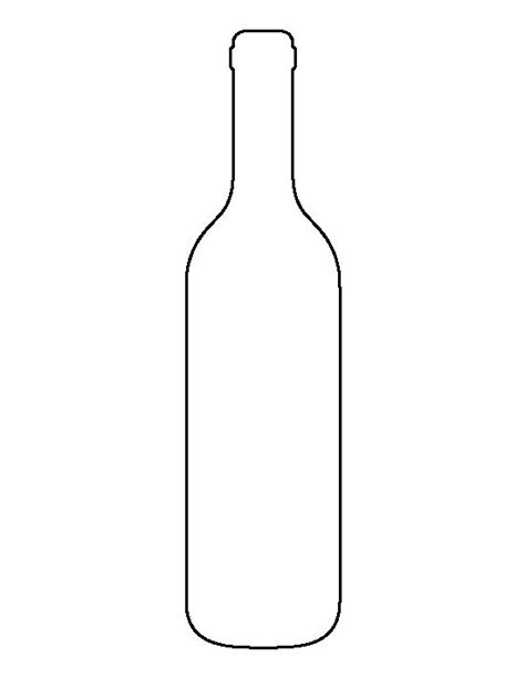 Bottle Clipart Silhouette Pencil And In Color Bottle Clipart Silhouette Wine Bottle Template
