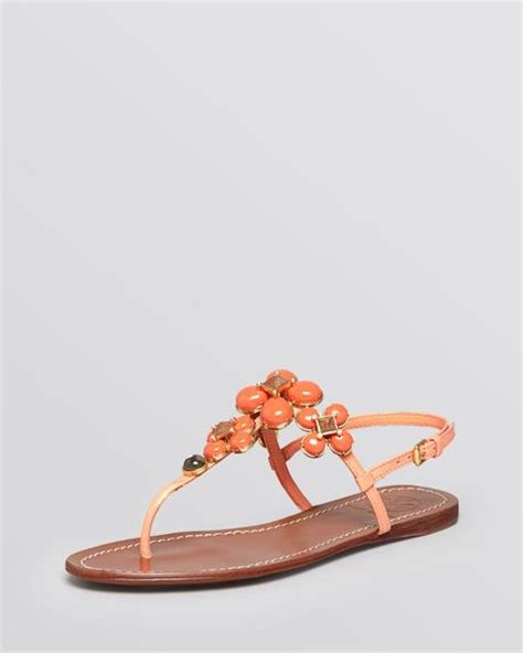 coral flat sandals burch flat sandals in orange bright