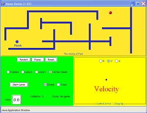 Tyc Gamis Bordir maze position velocity acceleration phet