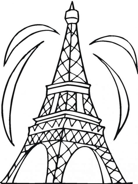 Free Printable Eiffel Tower Coloring Pages For Kids Towers Coloring Page