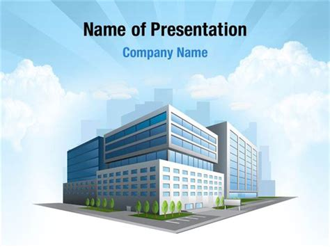 Modern Office Building Powerpoint Templates Modern Office Building Powerpoint Backgrounds Building Powerpoint Templates