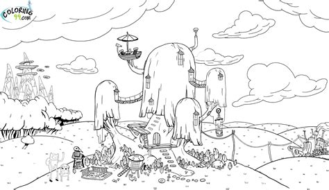 adventure time coloring pages team colors