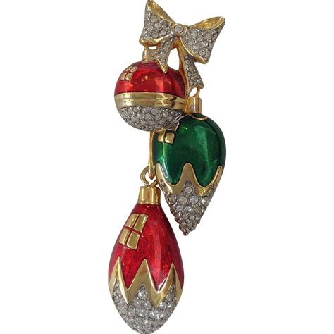 swarovski hanging christmas decorations pin from