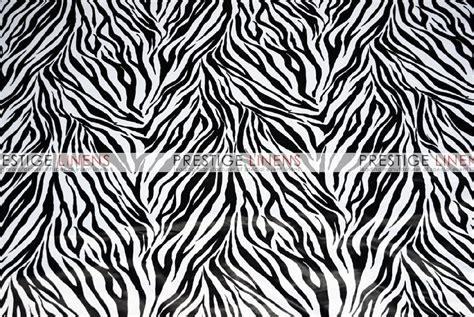 Zebra Print Table L Zebra Print Lamour Table Linen White Prestige Linens