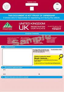 new logbook for car new v5c certificates