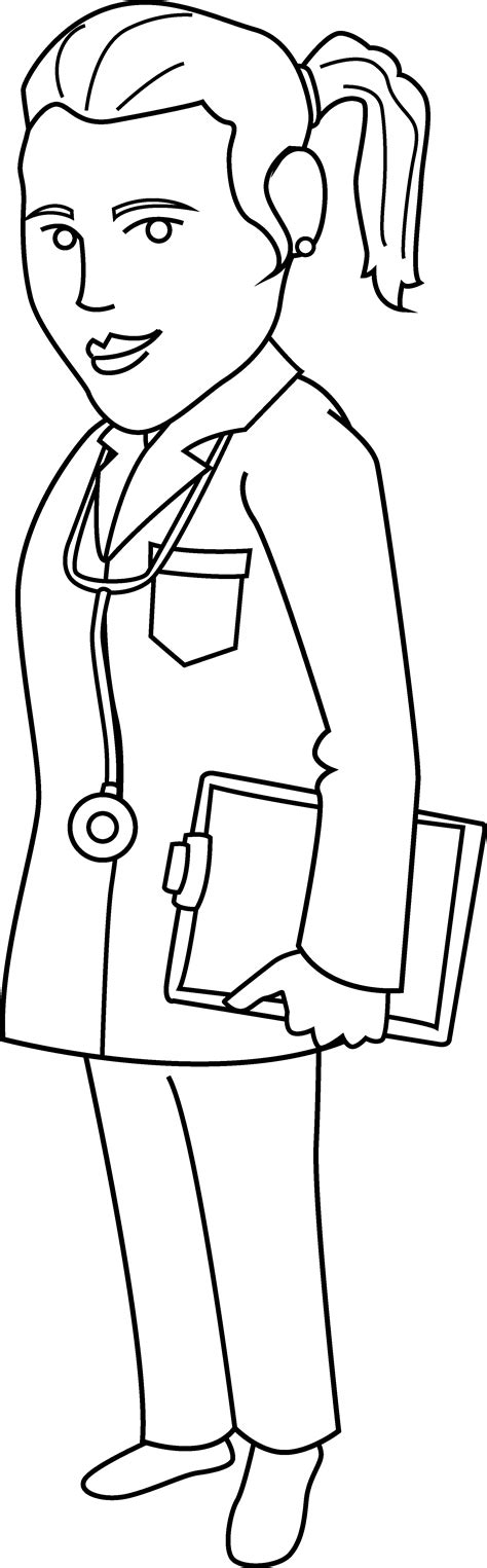 woman doctor coloring page free coloring pages of female doctors