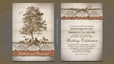 Templates For Cards Lace Tree Cards by Read More Tree Burlap Lace Rustic Country Wedding