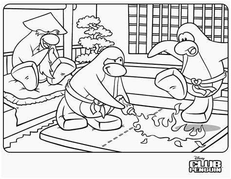 coloring page bubblegum423 s club penguin guides page 2