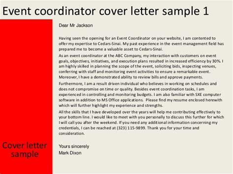 Event Sle by 28 Event Coordinator Cover Letter Sle Resume Cover Letter Event Manager 28 Images Event Cover