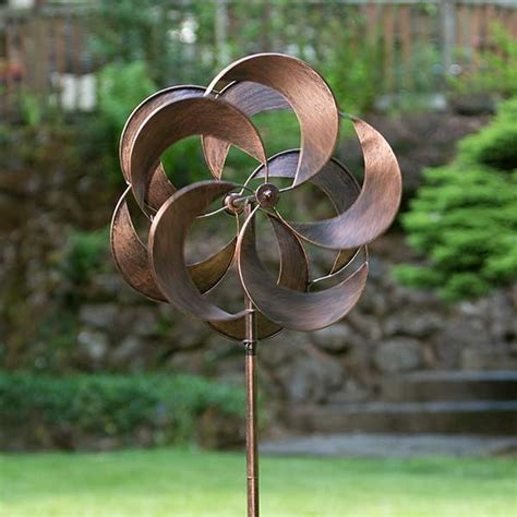 garden wind spinners turbo copper metal wind spinners craft warehouse