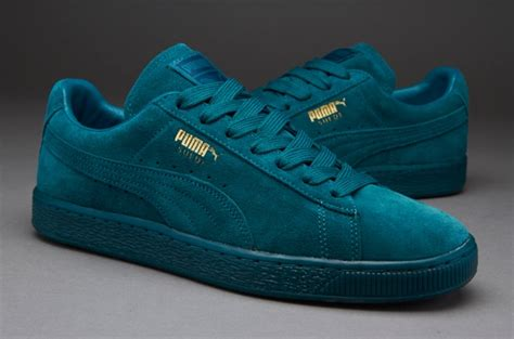 puma suede mono iced mens shoes navy