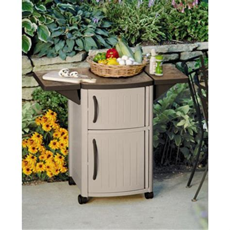 suncast outdoor storage cabinet suncast 174 serving station patio cabinet 138457 patio