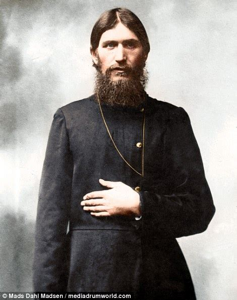 how is in color rasputin pictures show monk who brought the tsar in