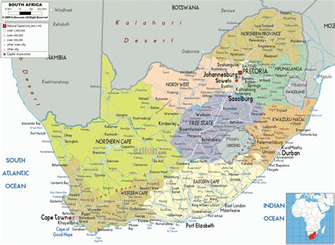 cape town south africa map map of south africa travelsmaps